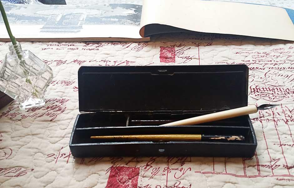 Plumier francés laca china S.XIX