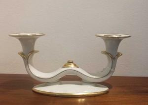 candelabro porcelana
