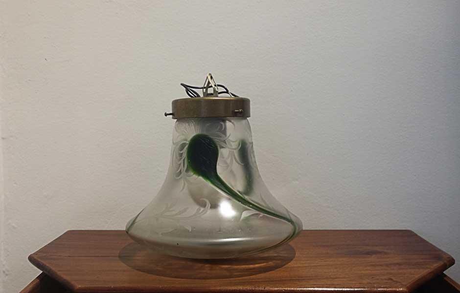 Lámpara globo Art Déco