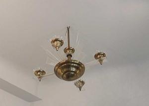 Lámpara modernista italiana en plexiglas