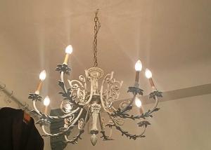 Lámpara francesa de bronce empolvado