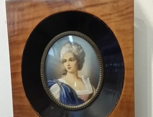 Retrato de dama en marco de nogal. Francia S.XIX